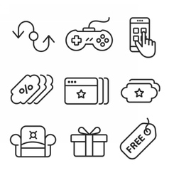 Line Art Icon vector