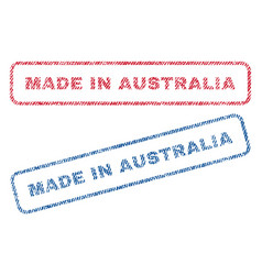 Made in australia textile stamps vector