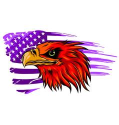 mascot head an eagle vector image