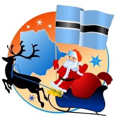 Merry Christmas Botswana vector image