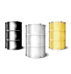 Metal drum barrels set vector image