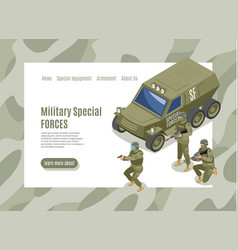 military special forces web page vector image