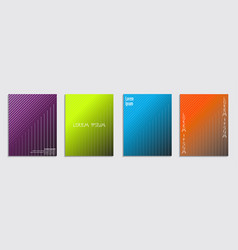minimal covers design cool halftone gradients vector image