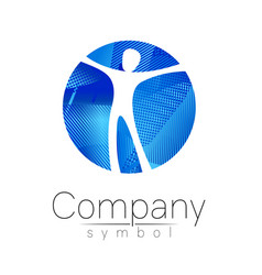 modern head logo of company brand human in the vector image