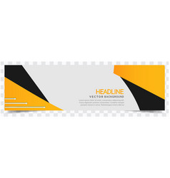 modern yellow black white background headline vect vector image