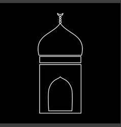 mosque white color icon vector image