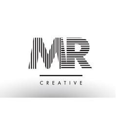 Mr m r black and white lines letter logo design vector