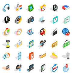 Old device icons set isometric style vector