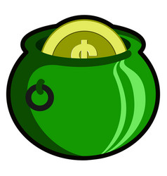 patrick day money pot vector image