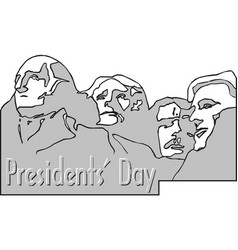 presidents day rushmore usa landscape background vector image
