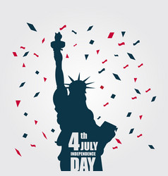 Printindependence day 4th july template design vector