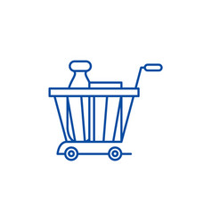 product basket line icon concept product basket vector image
