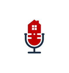Property podcast logo icon design vector