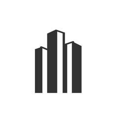 real estate skyscraper graphic design template vector image