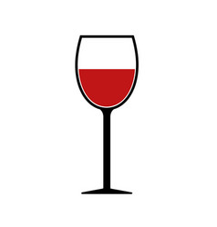 red wine glass silhouette icon isolated vector image