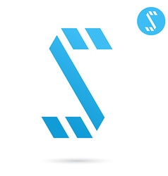 S letter icon vector image