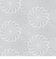 Seamless gray background with a flowers vector