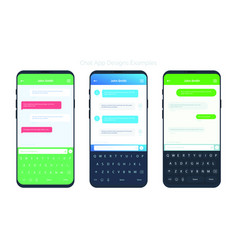 set of social network chat window concepts vector image