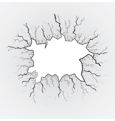 Smashed glass vector image