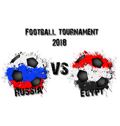 soccer game russia vs egypt vector image