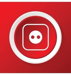 Socket icon on red vector