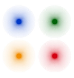 starburst sunburst shapes with radial radiating vector image