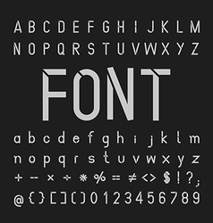 tech font Typeface and numbers vector image