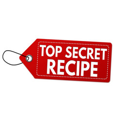 top secret recipe label or price tag vector image