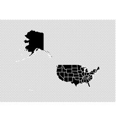 usa mercator map - high detailed black map with vector image