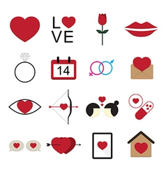Valentine icon set vector image
