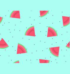 Watermelon seamless pattern triangular slices of vector