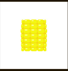 yellow corn section in flat style isolated vector image