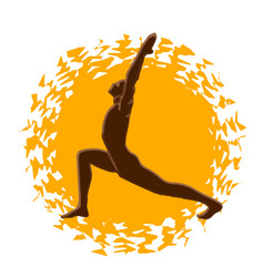yoga salutation sun vector image