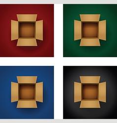 box vertical set vector image vector image
