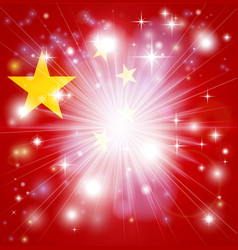 chinese flag background vector image vector image