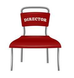 Chrome colored metal chair director vector image vector image