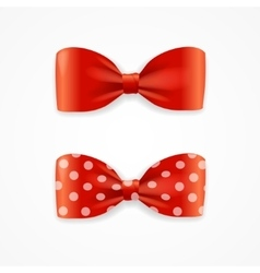 Red Bow Tie Set vector image
