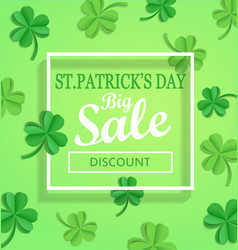 saint patricks day sale poster template vector image vector image