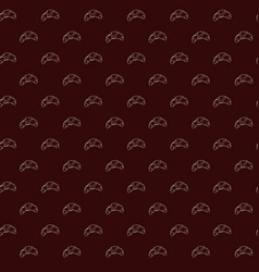 seamless pattern of croissants vector image vector image