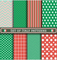 Set of Italia Independence day patterns vector image vector image
