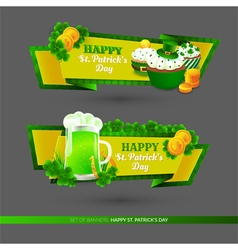 Set with banners on St Patricks Day vector image vector image