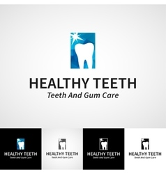 Creative dental logotype template Teethcare vector image vector image