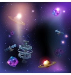 Space Dark Background vector image vector image
