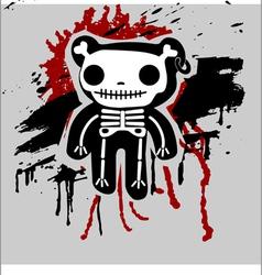 teddy bones vector image vector image