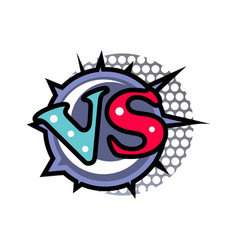 versus logo in cartoon style vector image