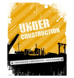 Vintage Grunge under construction background vector image vector image