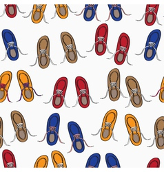 Colourful background pattern of shoes vector image vector image
