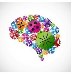 Gears mind vector image