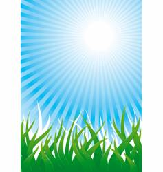 grass and sun vector image vector image