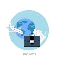International business travel by airplane vector image